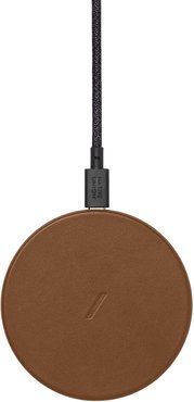 Drop Wireless Charger Pad - Tan Leather