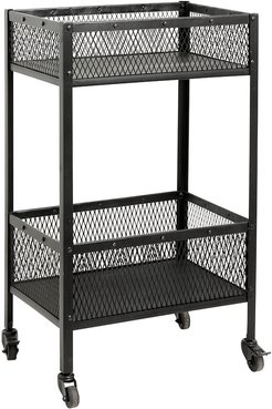 Iron Trolley with Baskets - Black - Small