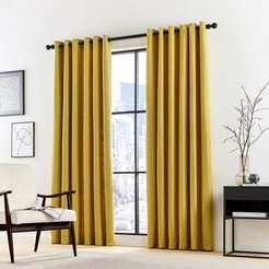 Madison Lined Curtains - Ocher - 167x182cm