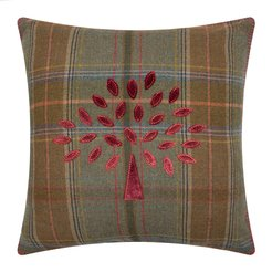 Mulberry Tree Plaid Pillow - 50x50cm - Red