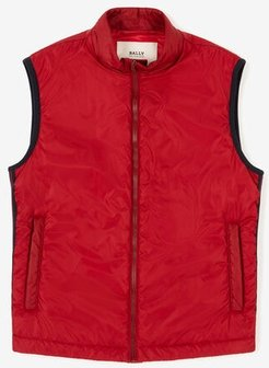 Sleeveless Down Jacket Red 48