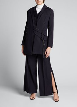 Double-Layer Belted Jacket