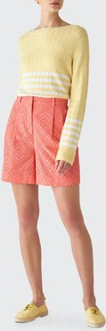 Trev Broderie Anglaise Shorts