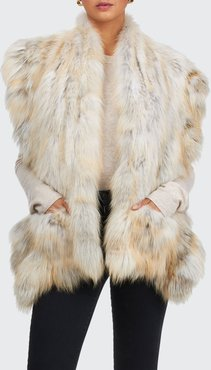 Golden Island Fox Fur Pocket Stole