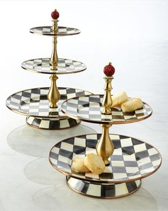 Courtly Check Three-Tier Sweet Stand