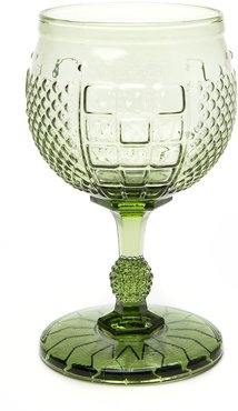 Coquette Green Water Goblet