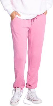 Quilted-Cuff Fleece Jogger Pants