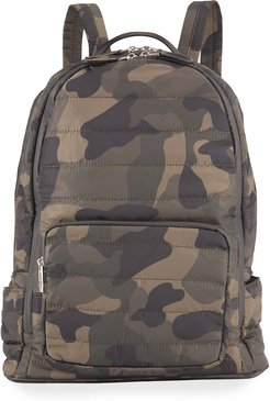 Girls' Camo Nylon Quilted Puffy Backpack