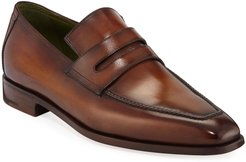 Andy Leather Penny Loafers
