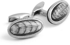 Limited Edition Signature Fossil Orthoceras Cuff Links