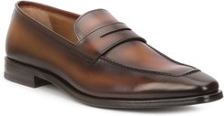 Corrado Burnished Leather Penny Loafers
