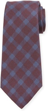 Gingham Check Silk Tie