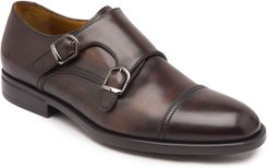 Barone Burnished Leather Double-Monk Loafers