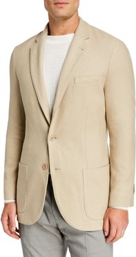 Houndstooth Two-Button Soft Jacket