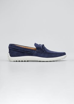 Laccetto Suede Boat Shoes, Navy