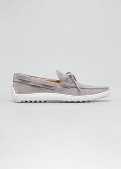 Laccetto Suede Boat Shoes, Grey