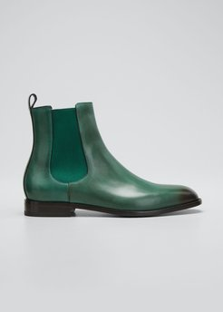 Delsa Smooth Leather Chelsea Boots