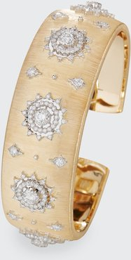 Limited Edition Cuff Bracelet in 18K Gold with Diamonds