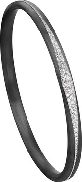 Carbon Fiber Diamond Pave Bangle