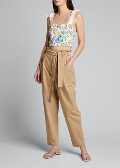 Nika Fitted Crop Top w/ Tie Straps