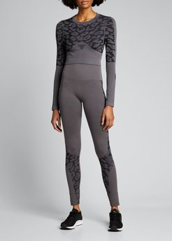 True Purpose Cropped Long-Sleeve Active Top