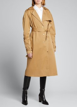 Blythe Puff-Sleeve Trench