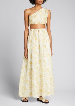 Clementine One-Shoulder Cropped Top