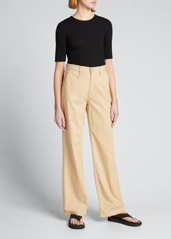 Lucca Cropped Ribbed Tee
