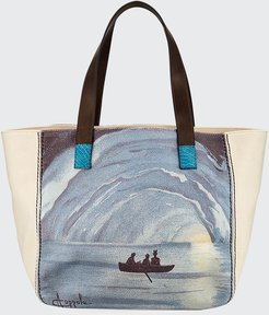 Capri Printed Canvas Tote Bag