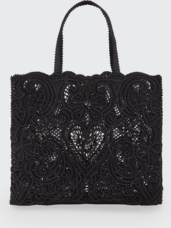 Beatrice Large Lace Tote Bag