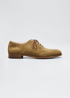 Perforated Lace-Up Oxfords