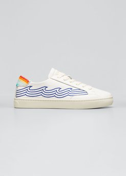 Ibiza Embroidered Wave Sneakers