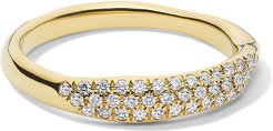 Stardust 18k Diamond Squiggle Ring, Size 7