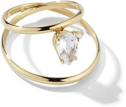Sea of Beauty 14k Topaz and Diamond Wire Ring, Size 7