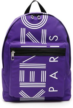 LOGO BACKPACK OS Purple, White, Black Technical, Leather