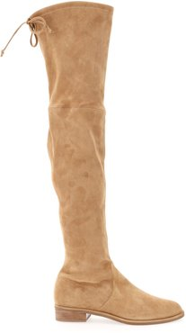 SUEDE LOWLAND BOOTS 35 Beige Leather