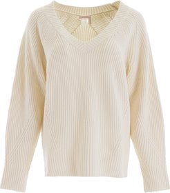 OVERSIZED PULLOVER L White Wool, Cotton