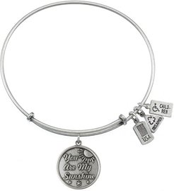 Wind & Fire You Are My Sunshine Charm Bracelet in Silver Tone