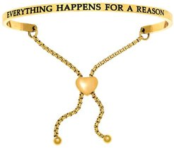 Intuitions Everything Happens For A Reason Bracelet in Yellow-Tone Ion-Plated Stainless Steel
