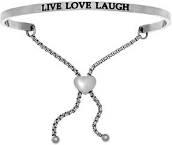 Intuitions Live Love Laugh Friendship Bracelet in Ion-Plated Stainless Steel