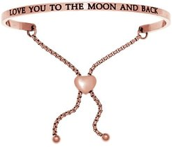 """Intuitions """"…To the Moon"""" Bracelet in Rose Gold-Tone Stainless Steel"""