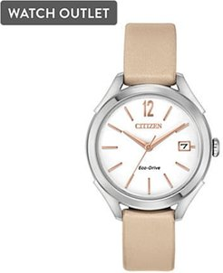 34mm Ladies' Drive from Citizen Eco-Drive® Watch with White Dial and Blush Leather Strap