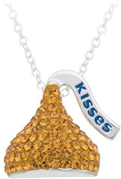 Crystal HERSHEY'S Kiss Pendant in Sterling Silver