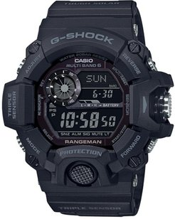 55mm Men's Casio G-Shock Rangeman Watch with Digital Face and Black Resin Strap