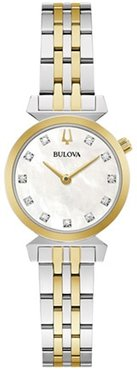 24mm Ladies' Bulova Regatta Watch with Mother-of-Pearl Dial and Two-Tone Bracelet