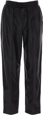Pantaloni in similpelle con coulisse