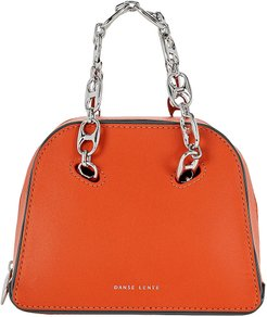 Mini Bowling Leather Bag, Orange 1SIZE