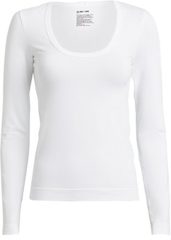 Seamless Long Sleeve T-Shirt, White P/S