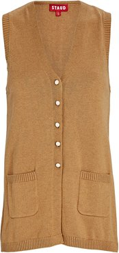 Jo V-Neck Sweater Vest, Beige P