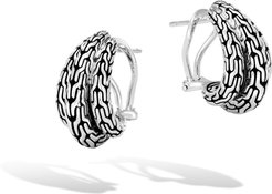 Classic Chain Buddha Belly Earring in Sterling Silver